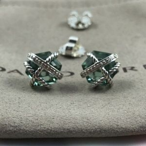 David Yurman Wrap Prasiolite Earrings